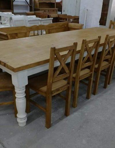 etkezo 10sz asztal fenyo mivesbutor 1 - Felújított Míves Bútorok