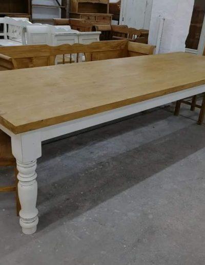 etkezo 10sz asztal fenyo mivesbutor 2 - Felújított Míves Bútorok