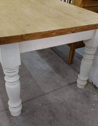 etkezo 10sz asztal fenyo mivesbutor 4 - Felújított Míves Bútorok