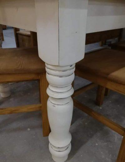 etkezo 10sz asztal fenyo mivesbutor 5 - Felújított Míves Bútorok