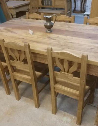 etkezo 8sz asztal tolgy mivesbutor 1 - Felújított Míves Bútorok