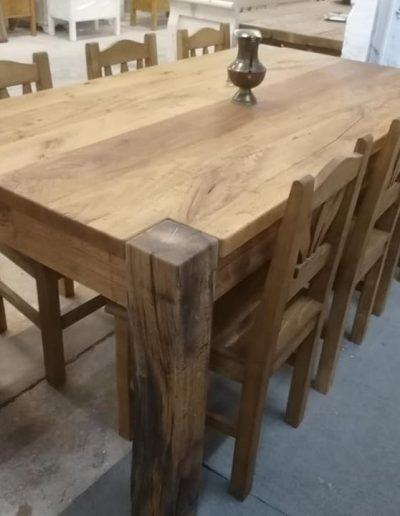 etkezo 8sz asztal tolgy mivesbutor 4 - Felújított Míves Bútorok