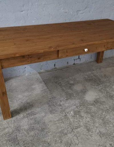 200 egyenes vax asztal mivesbutor 3 - Felújított Míves Bútorok