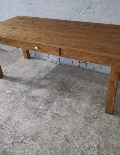 200 egyenes vax asztal mivesbutor 4 - Felújított Míves Bútorok