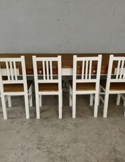 250 esztergalt feher asztal mivesbutor 2 - Felújított Míves Bútorok