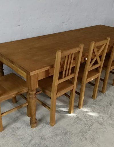 250 esztergalt vax asztal mivesbutor 6 - Felújított Míves Bútorok