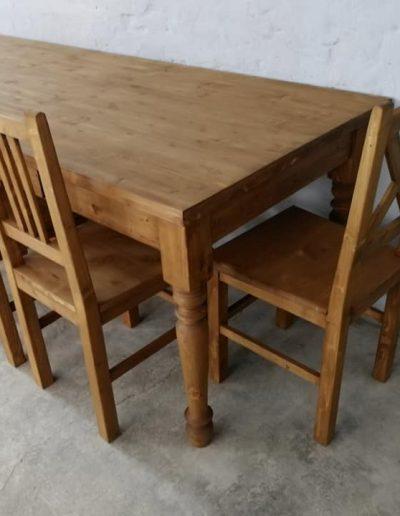 250 esztergalt vax asztal mivesbutor 7 - Felújított Míves Bútorok