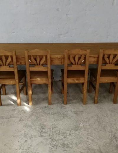 250 esztergalt vax asztal mivesbutor 9 - Felújított Míves Bútorok
