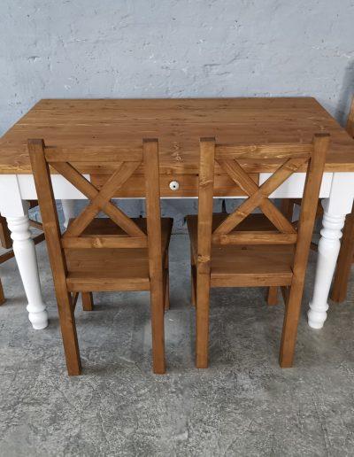 140 esztergalt feher asztal mivesbutor 6 - Felújított Míves Bútorok