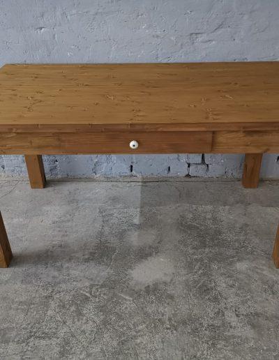 160 egyenes vax asztal mivesbutor 1 - Felújított Míves Bútorok