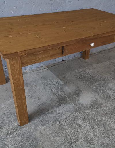 160 egyenes vax asztal mivesbutor 4 - Felújított Míves Bútorok