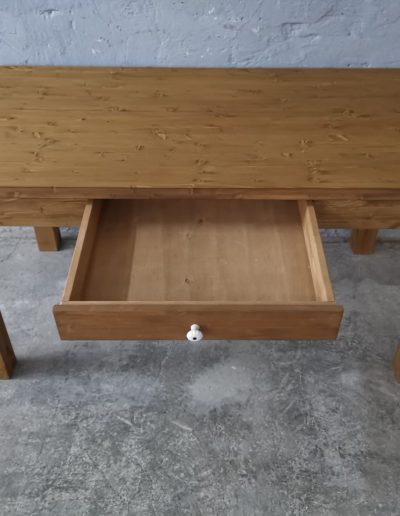 160 egyenes vax asztal mivesbutor 5 - Felújított Míves Bútorok