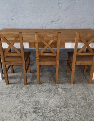 200 egyenes feher asztal mivesbutor 4 - Felújított Míves Bútorok
