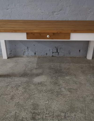 200 egyenes feher asztal mivesbutor 5 - Felújított Míves Bútorok