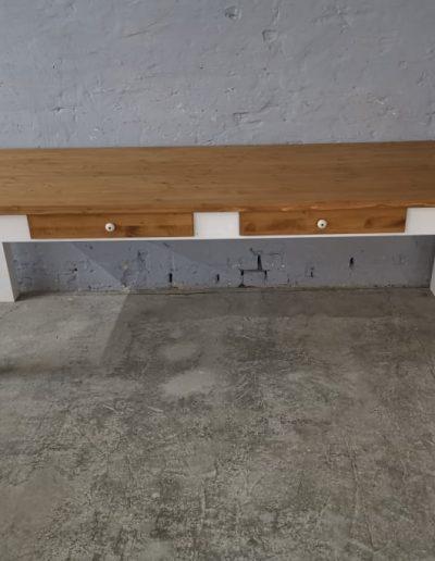 250 egyenes feher asztal mivesbutor 1 - Felújított Míves Bútorok