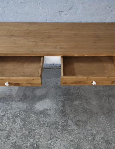 250 egyenes feher asztal mivesbutor 4 - Felújított Míves Bútorok