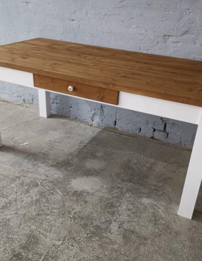 180 egyenes feher asztal mivesbutor 2 - Felújított Míves Bútorok