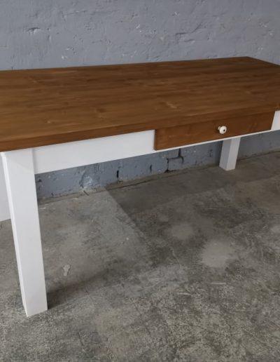 180 egyenes feher asztal mivesbutor 3 - Felújított Míves Bútorok