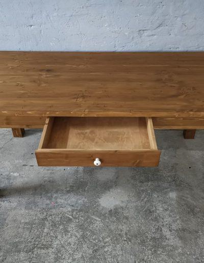 180 egyenes vax asztal mivesbutor 4 - Felújított Míves Bútorok