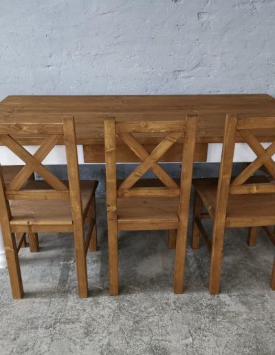 180 esztergalt feher asztal mivesbutor 4 - Felújított Míves Bútorok