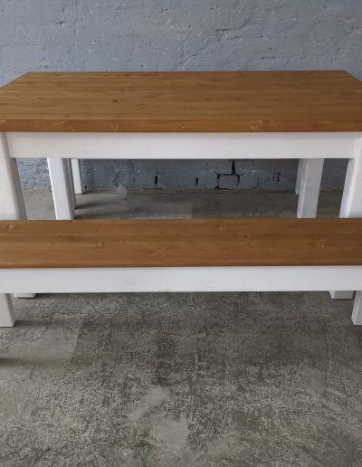 160 feher szett paddal mivesbutor 1 - Felújított Míves Bútorok